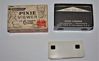 Vintage 3 Dimensional Pixie Viewer with 6 Slides, Stand Rock Indian Dances