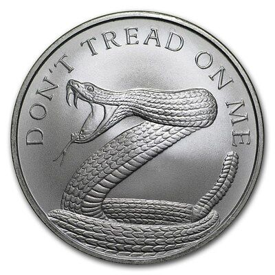 2018 1 oz Silver Shield Round - Don't Tread On Me Snake - in capsule