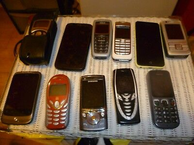 Job Lot 11x Mobile Phones Spares Repairs Not tested so parts