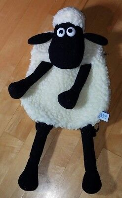 "Shaun the Sheep plush backpack 24"" by Wallace and Gromit Aardman Vintage 1989"