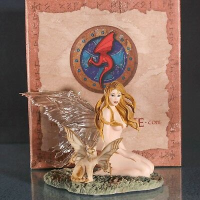 """Dragonsite """"Amber"""" Fairy Figurine by Nene Thomas with box limited edition EXCELL"""