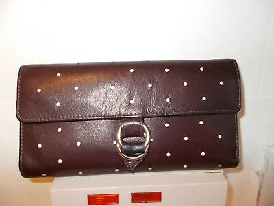 Ladies Good Quality Brown Soft Real Leather Spacious Purse/wallet
