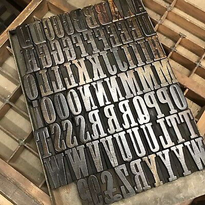 Letterpress Wood Type Wood Letter Printing Alphabet Fount