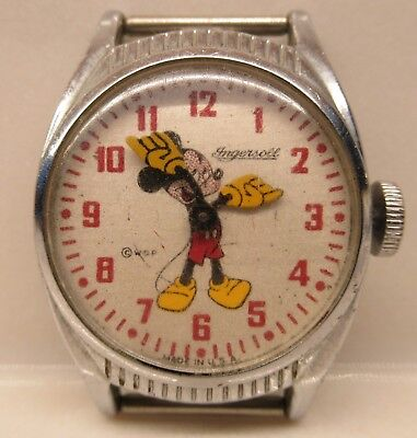 Vintage Mickey Mouse Watch-Ingersoll-US Time