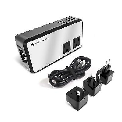 ShuttleLock 2000W Voltage Converter Step Down 220V to 110V Power Strip & Travel