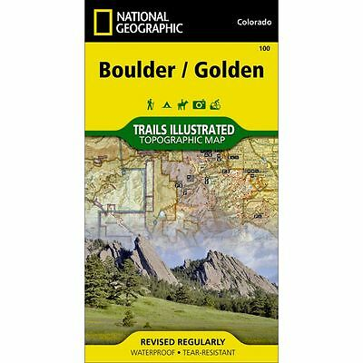 National Geographic Boulder Golden Trails Illustrated Topo Map -CO- Map #100