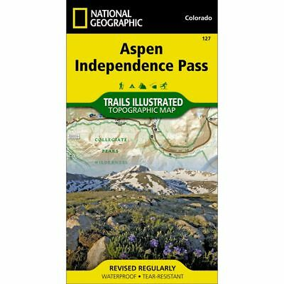 National Geographic Aspen / Independence Pass Trails Illus Topo Map - CO - #127