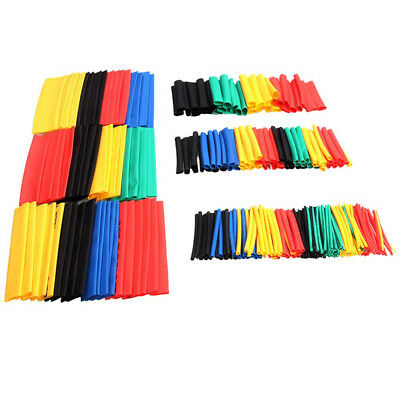 328pcs 2:1 Polyolefin Shrinking Assorted Heat Shrink Tube Wire Sleeving 8 Size L