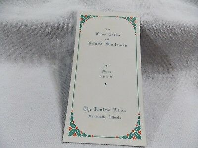 Vintage Collectible Early Advertising Ink Blotter The Review Atlas Monmouth, Ill