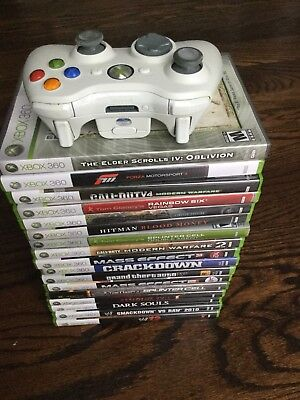 Lot of 17 Xbox 360 Games, plus controller