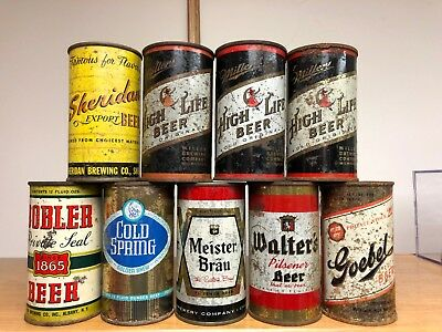 9 Flat Top Beer Cans