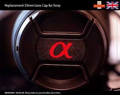 55mm Front Lens Cap for Sony Alpha Camera