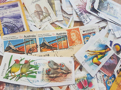 1000 Australian stamps bulk UNSORTED w $1 s & higher recent, early, free post