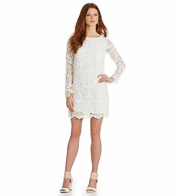 cc817f777a FRENCH CONNECTION WHITE lace cut out midi dress size small -  25.00 ...