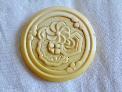 Beautiful Large Celluloid One Piece Button #2017