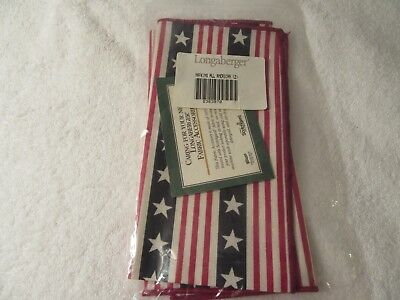 Longaberger Napkins New in Package Set of 2  All American 2363970