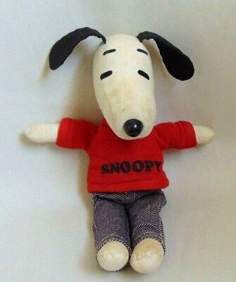 Vtg Ideal Toy 1968 Snoopy United Feature Syndicate Stuffed Toy Peanuts Figure