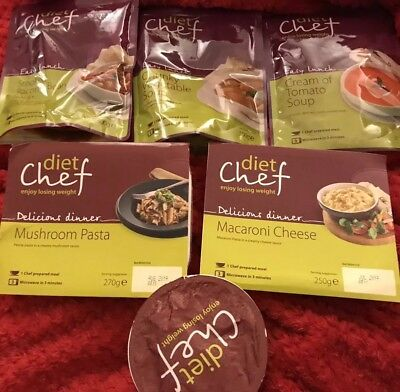6 X Diet Chef Weight Plan Macaroni Cheese Mushroom Pasta Tomato Couscous Meals