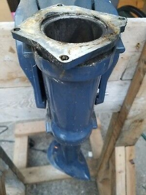 1970 Evinrude lightwin 4 hp outboard midsection, swivel transom clamp bracket