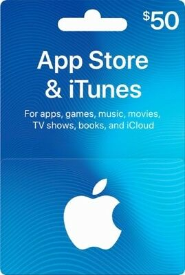 iTunes Gift Cards - Retail $50 - Ships by 1st Class Mail!