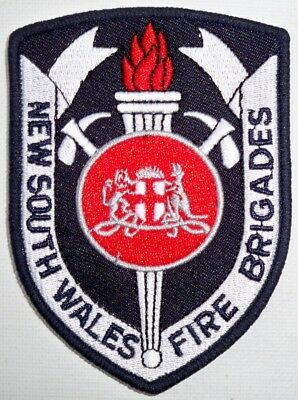 New South Wales Fire Brigades (Black) patch - Collectors Patch Not Official