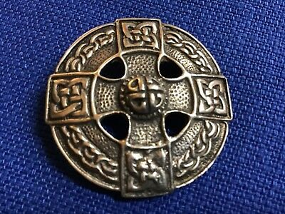 Vintage Sterling Silver Celtic Eternity Knot 925 Pin Brooch