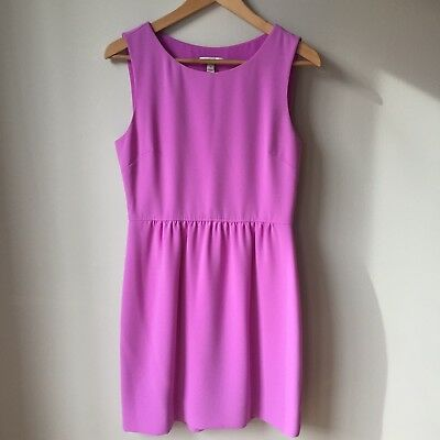 0b076303b1 J. CREW CAMILLE Dress in Neon Violet Women s Size 6 Sleeveless ...
