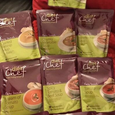 7 Diet Chef Weight Plan Chunky Vegetable Tomato Curried Parsnip Minestrone Soups