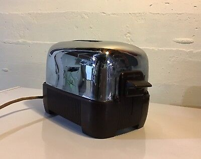 Vintage 1950s General Electric GE TOASTER Chrome - Works, made in USA!
