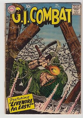 """G.I. Combat #57 - February 1958 - """"Live Wire for Easy!"""""""