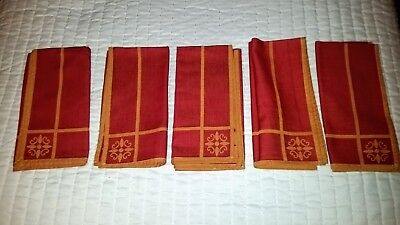 Southern Liivng at Home Siena Napkins Red/Gold/Yellow Cotton Qty 5