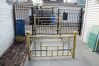 Vintage Brass Bed Queen Size with Rails