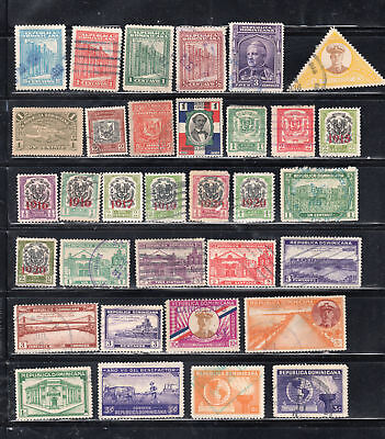Dominican Republic  Stamps Canceled Used & Mint Hinged    Lot 37024
