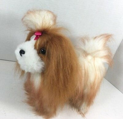NEW Pucci Pups Shih Tzu Tan and White Puppy Plush Toy Dog 9""