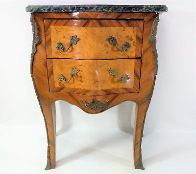 French Louis XV Style Marble Top Commode Chest 1900s