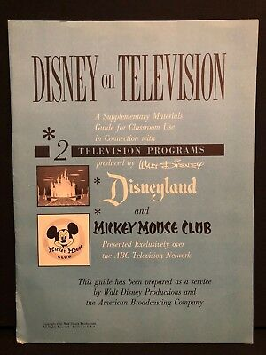 Disney Television Mickey Mouse Club & Disneyland TV show 1950s teachers guide