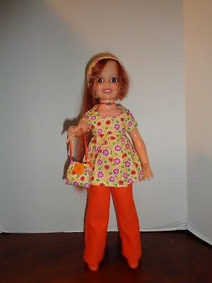 Pretty Orange Pants Outfit For Ideal Crissy Doll