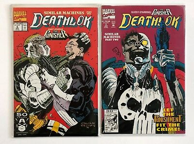 Deathlok #6, 7 (1991, Marvel) NM, Punisher