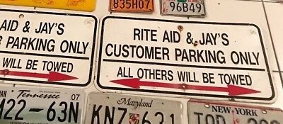 Rare Vintage Rite Aid Drug Store Pharmacy Parking Arrow Sign