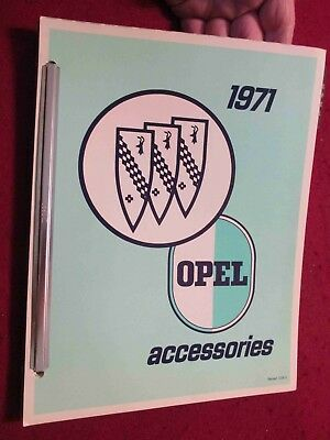 1971 Buick & Opel GT etc Accessories Catalog; Scarce Dealer Looseleaf Set, Bound