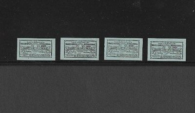 U.s. Four Tobacco Workers Union Made Labels, Drummond Catalog # Umtw18.1