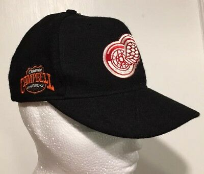 e3f09262cc4 VTG Detroit Red Wings Campbell American Needle 90s Hat Snapback Cap NHL  Hockey