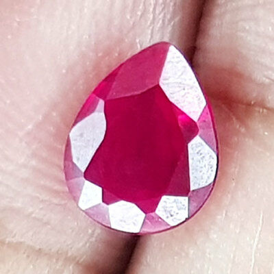 2.34 Cts M0G0K Unheat Huge Historical Blood Red Natural Ruby