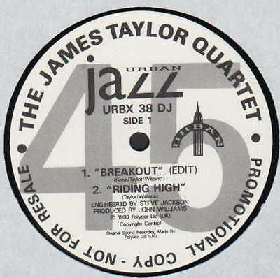 "12"" Uk**the James Taylor Quartet - Breakout (Urban '89 / Promo)***8392"