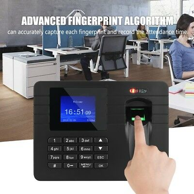 Biometric Time Recorder Clocking in Attendance Machine Fingerprint  Password