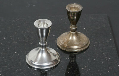 """Pair 4"""" Duchin Creation Sterling Silver Weighted Candle Stick Holders.925"""