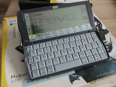 ✔ Psion Revo Plus 16MB PDA in box with docking station, manuals, CD