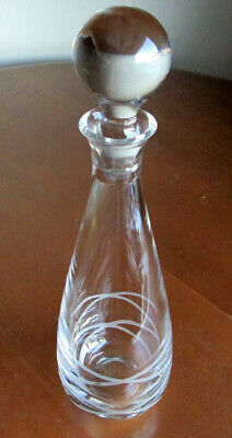 Vintage Lead Crystal Glass Decanter - Very Heavy - Deeply Cut Design