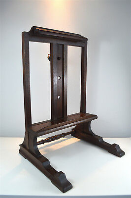 Antique Victorian mahogany artist easel picture stand English circa.1890