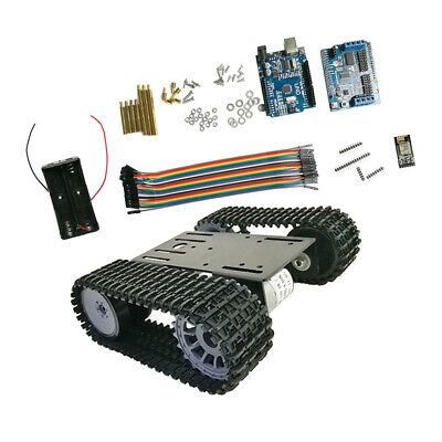 Arduino WiFi Control Smart Robot Tank Car Chassis Kit Rubber Track